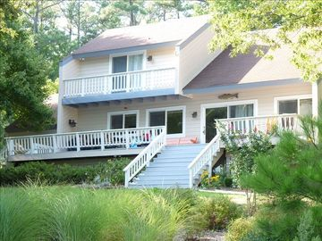Deltaville house rental - Waterfront side of house.