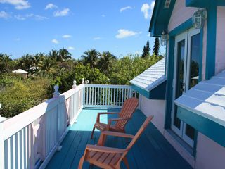 Upstairs deck with ocean view - Spanish Wells cottage vacation rental photo