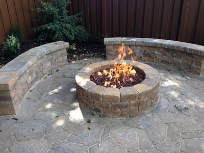 Natural gas fire-pit for chilly Rocky Mountain nights