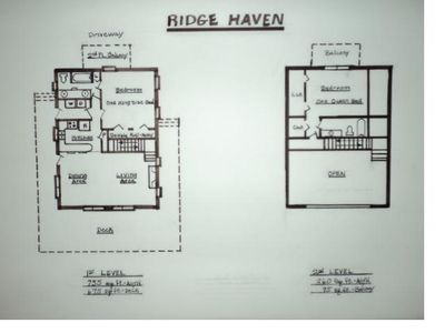 Floor Plan of the cabin.