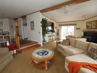Rehoboth Beach house photo - Bright and airy living room has cable TV, DVD player and fire place