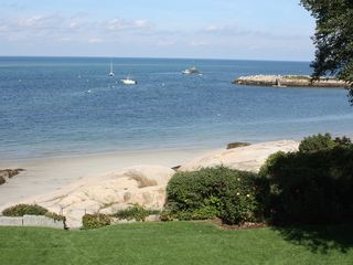 Gloucester - Annisquam house photo - A look at our private beach from our front lawn.