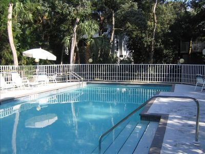 Heated, secluded Community Pool. Very Private, just 20 members. One minute walk.