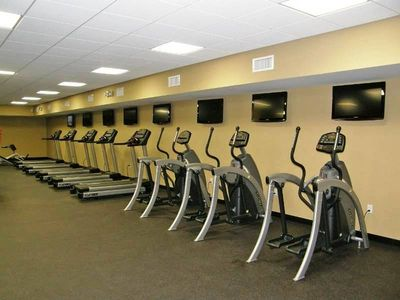 Large fully equipped work-out facility!