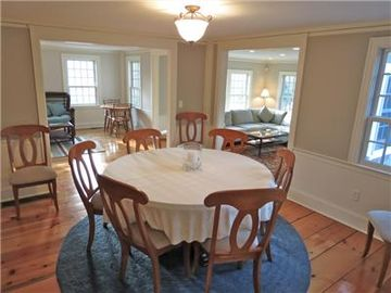 Dining room off kitchen can sit 10