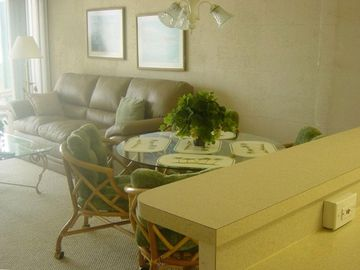 New Smyrna Beach condo rental - Living Room and Kitchen area