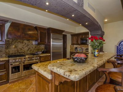 Gourmet kitchen with modern appliances