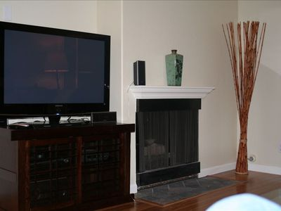 "NEW 42"" PLASMA HDTV WITH CD/DVD/HOME THEATER SYSTEM & GAS FIREPLACE!"