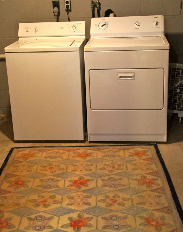 Basement washer and dryer