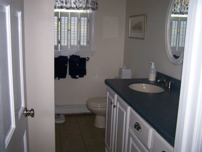 Full Bathroom on Main Floor next to Queen Bedroom on Main Floor