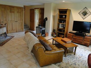 Ascutney farmhouse photo - Living room with flatscreen TV, Dish Network 200 plus HBO, and DVD/BluRay