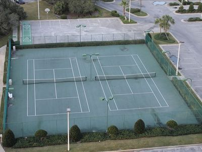 If you play tennis these courts are perfect ,