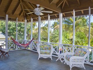 Nisbet Beach villa photo - Huge screened porch with 2 hammocks