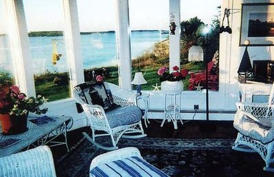 Westport Island cottage rental - Sunrise over Sheepscot Bay