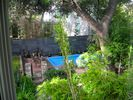 View of backyard and Pool from Studio