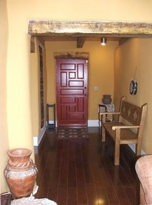 Serene energy soothes you as you enter the main door of Casa de Cuentos