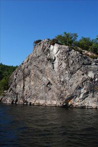Barn Rock... watch, or join in, as the daredevils jump into the deep waters!