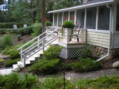 Saugatuck / Douglas cottage rental - The front porch is just one of many outdoor seating areas
