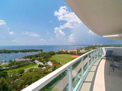 Great Wrap around Balcony with amazing views of Biscayne Bay