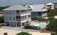 Family friendly 4 bedroom,  private pool, 1st tier, screen porch, gulf/bay view