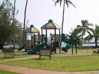 Children's play area at Poipu Beach