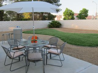 Las Vegas house photo - Back Yard. Dining table for 5 + Two Chair bar. BBQ grill