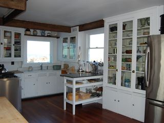 Gloucester - Annisquam house photo - Gourmet kitchen with 2 ocean views, dining table