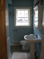 Wiscasset cottage photo - Bathroom with Over Sized shower.