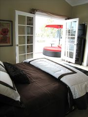 Corona del Mar house photo - Large deck of master bedroom