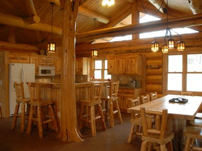 Exquisitely handcrafted log lodge on the clearest lake in Minnesota. Come stay!