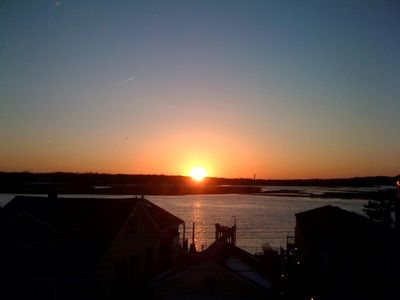 Picturesque sunset over the Shrewsbury and Navesink Rivers