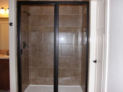 Large shower in master bath