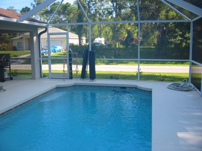 Screened in Pool with Baby safety netting