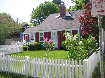 Your Cape Cod Cottage with fenced in yard is just steps to the beach!