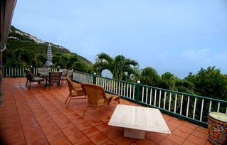 Saba house photo - Large deck with views of sea and 6 islands