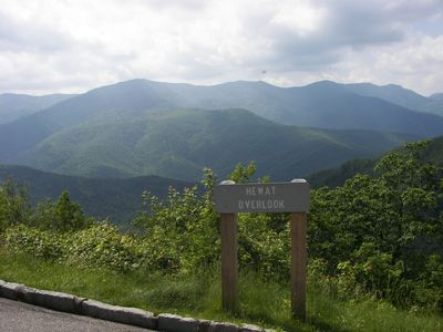 Beautiful view on the Blue Ridge Parkway, 40 minute drive, worth it!