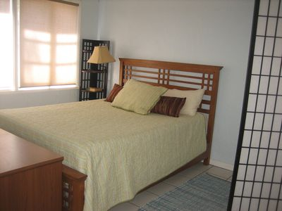 Bedroom w/ full-size bed, high quality mattresses and linens.