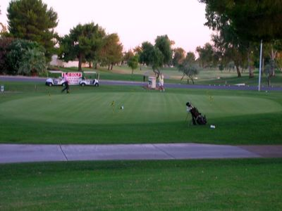 Old Town Scottsdale condo rental - The golf Club house is right out your back door.