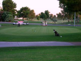 Old Town Scottsdale condo photo - The golf Club house is right out your back door.