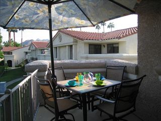 Palm Springs condo photo - Dine alfresco on private balcony off guest room
