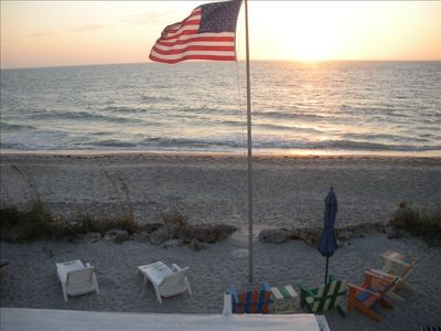 Romantic Manasota Key sunset view from the private topside viewing deck
