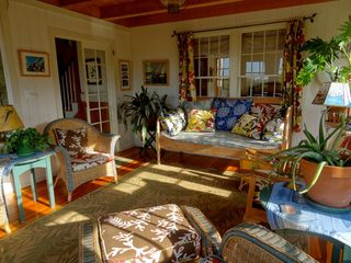 Gayhead - Aquinnah house photo - Wicker room, great afternoon sun