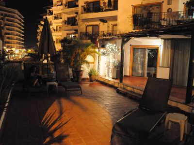 Private Terrace at night.