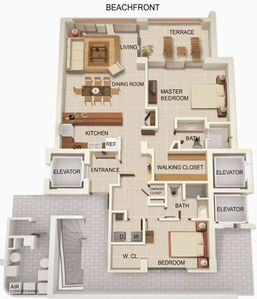 Floorplan - almost 1700 square feet including balcony
