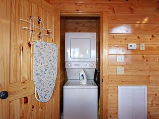 Pigeon Forge cabin photo - Washer and Dryer with Ironing board/iron