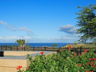 Mauna Kea villa rental - Enjoy the oceanview while lounging in our heated spa