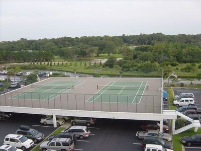 Private Tennis Courts Overlooking the Dunes Country Club