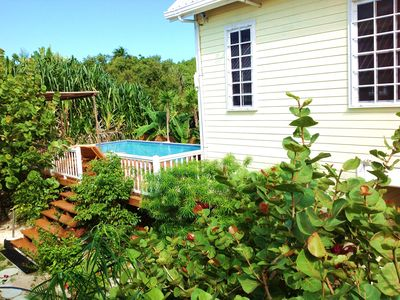 The Hidden Gem and swimming pool. Home is located  1 block from the ocean.