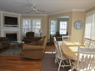 living and dining areas (2 dining tables..only one shown) - great open space