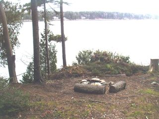 Orrs Island cottage photo - Looking from the fire pit across Gun Point Cove